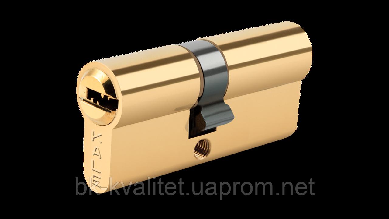 Цилиндр KALE 164 SNC с защитой от высверливания, латунь 90 (45х45)