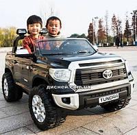 Двухместный детский электромобиль JJ 2255 EBLR-2 Toyota Tundra, кожаное сиденье