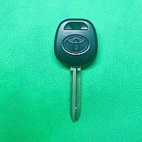 Корпус заготовки под чип автоключа TOYOTA Land Cruiser (Тойота Ленд Крузер) лезвие TOY43