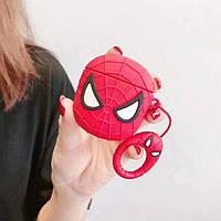 Чехол футляр для наушников AirPods Человек-паук силиконовый