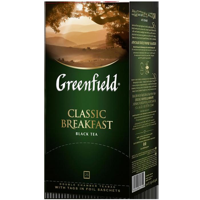 """Чай пакетированный черный Greenfield  """"Classic Breakfast"""" 25шт"""