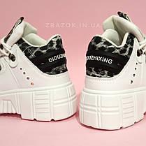Розміри 38, 39 Білі високі черевики, кросівки кріпери на товстій підошві нью рок new rock жіночі, фото 3