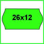 Этикет-лента (ценники) 26х12, фигурная, цветная для этикет-пистолетов