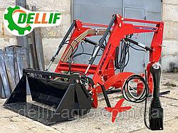 Навантажувач Dellif Baby 500 з щелепним ковшем і джойстиком на Dong Feng 244,Kata Ke 454