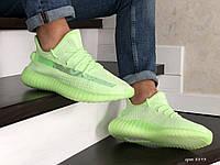 Мужские кроссовки Adidas Yeezy Boost 350 (салатовые) 8893