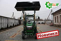Міні навантажувач Dellif Baby 500 на міні трактор Kata Ke 454 з щелепним ковшем і джойстиком