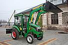 Мини погрузчик Dellif Baby 500 на мини трактор Kata Ke 454 с челюстным ковшом и джойстиком, фото 5