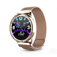 "Жіночий смарт-браслет SUNROZ H16 смарт-годинник з металевим браслетом 1.04"" Золотистий (SUN6482)"