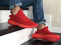 Мужские кроссовки Adidas Yeezy Boost 350 (красные) 8895
