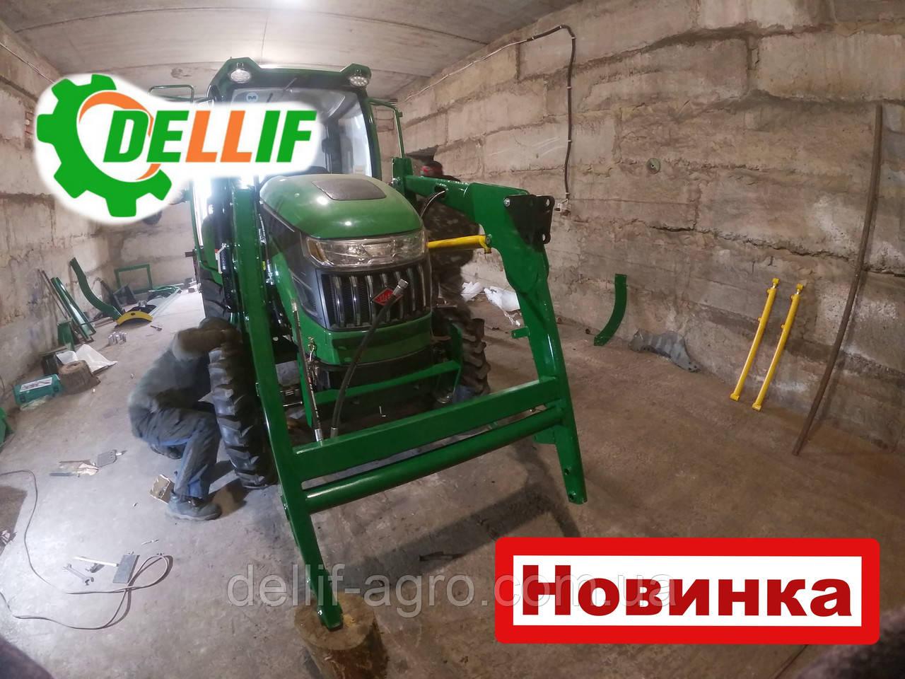Мини погрузчик Dellif Baby 500 на мини трактор Kata Ke 454 без навески с джойстиком