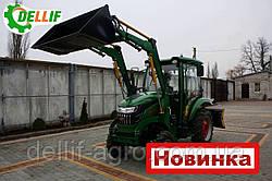 Міні навантажувач Dellif Baby 500 на міні трактор Kata Ke 454 з ковшем 0.24 куба і джойстиком