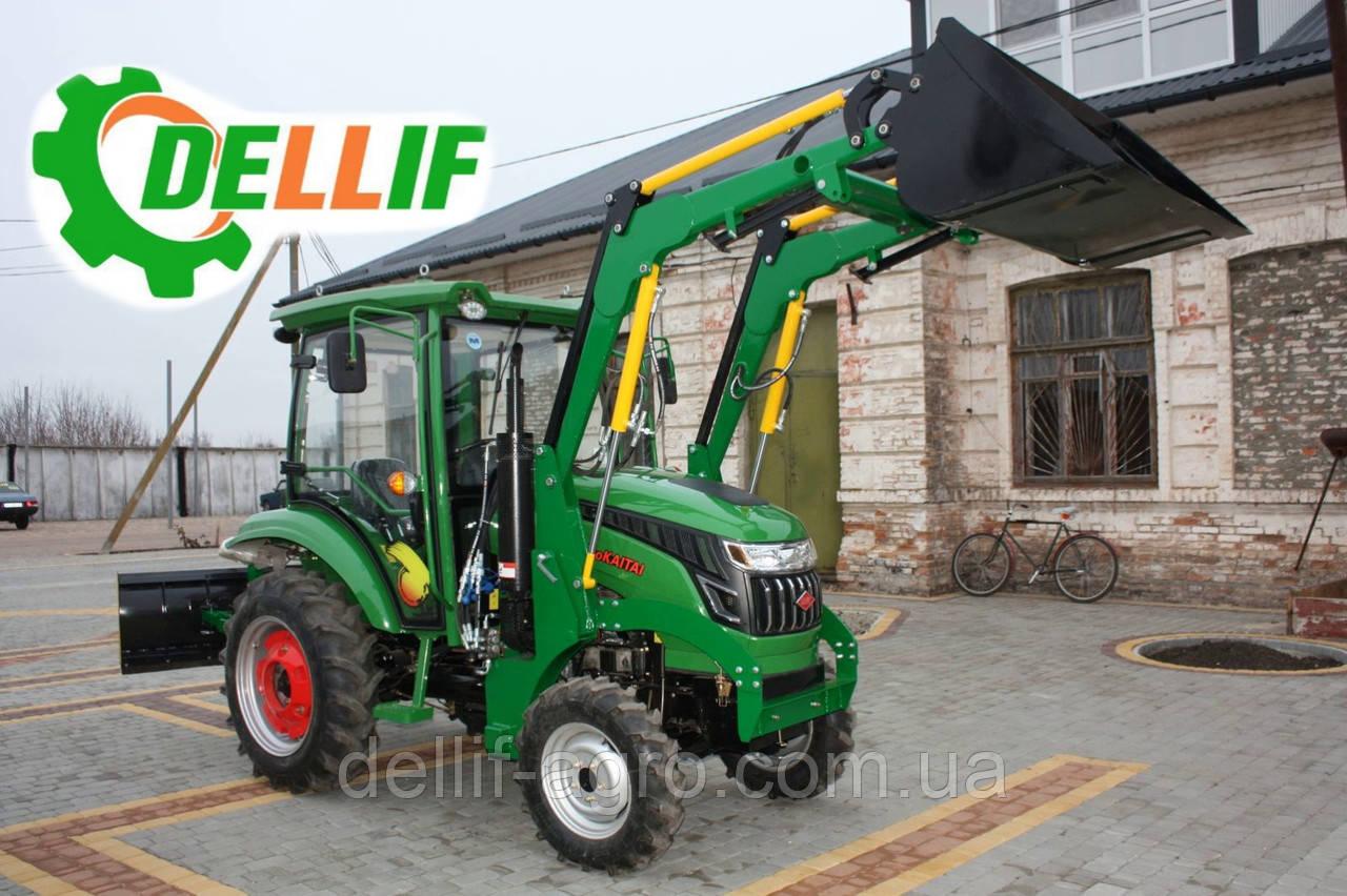Мини погрузчик Dellif Baby 500 на мини трактор Kata Ke 454 ковш 0.22 куба и джойстик