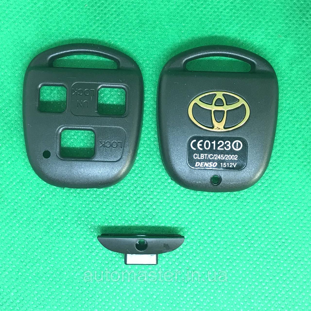 Корпус для автоключа TOYOTA Camry,Prado, Corolla ,Avensis, 3 - кнопки под оригинальное лезвие