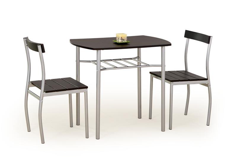 Столовий комплект LANCE венге ( стіл+2 крісла) (Halmar)
