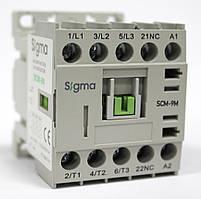 Миниконтактор 3-х полюсный, c доп. контактом катушка 220 / 48 / 24 Вольт 9А / 4 кВт, 1НО, 48В