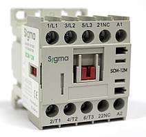 Миниконтактор 3-х полюсный, c доп. контактом катушка 220 / 48 / 24 Вольт 12А / 5.5 кВт, 1НЗ, 220В