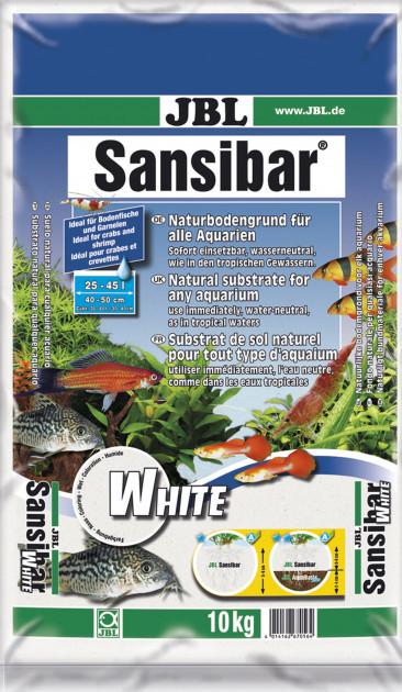 Пісок JBL Sansibar White 0.1-0.4 мм 10 кг Білий