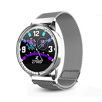 "Жіночий смарт-браслет SUNROZ H16 смарт-годинник з металевим браслетом 1.04"" Срібний (SUN6483)"
