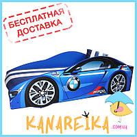 Детская кровать машина BMW Elite в 4 цветах (матрас и не только входят в стоимость, доставка бесплатная!)