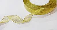 Лента парча 15 мм золото