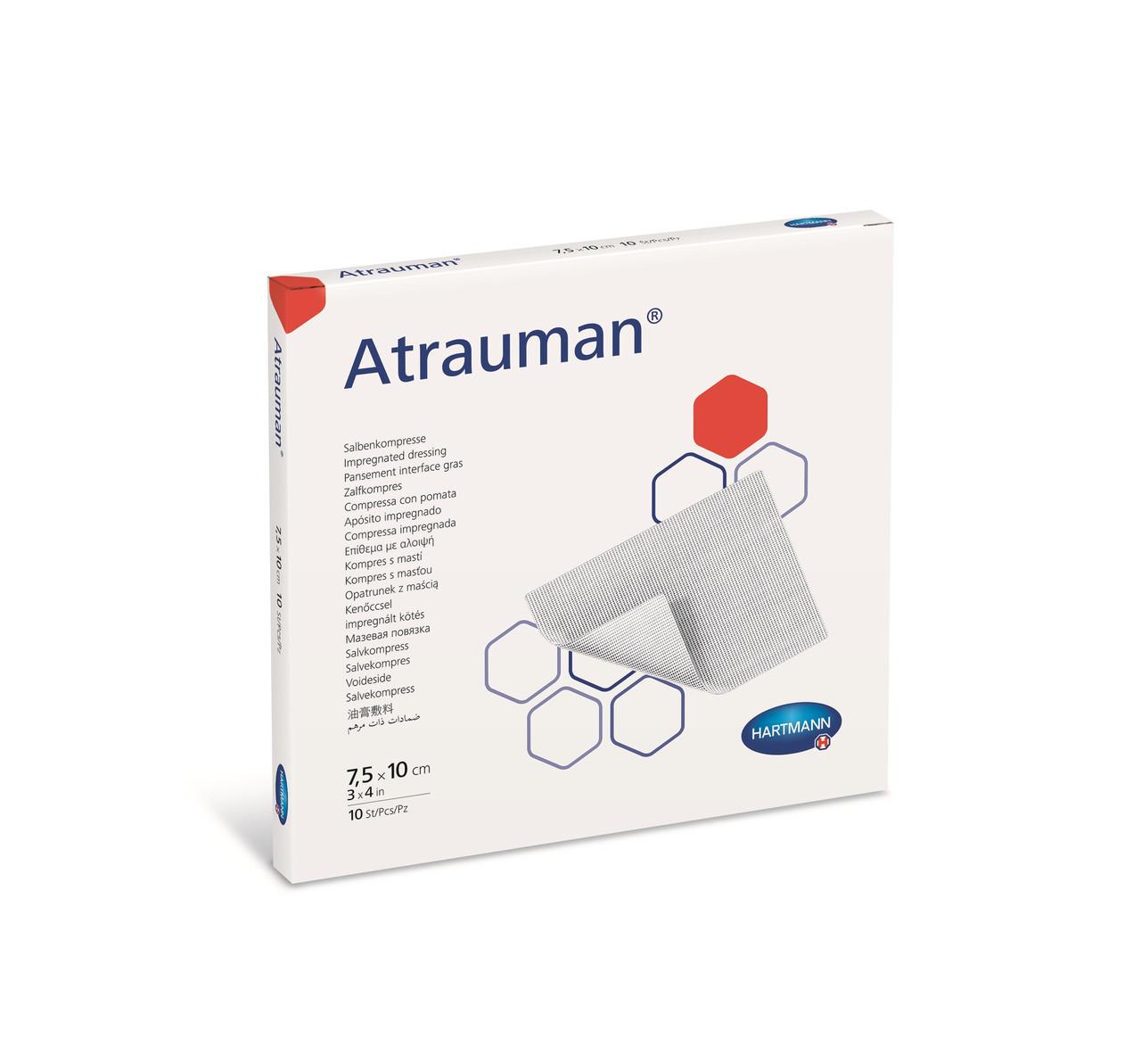 Atrauman / Атрауман мазевая повязка, атравматическая, стерильная, 7,5 х 10 см