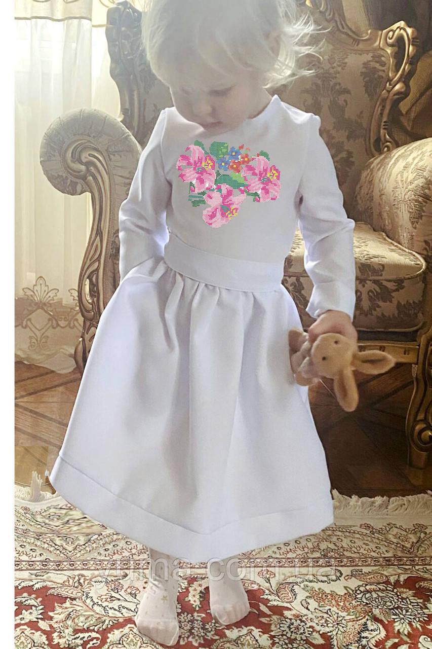 Пошитое детское платье для вышивки модель Ника