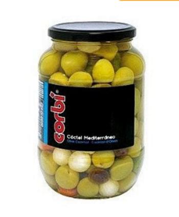 Оливки Corbi Coctel Mediterraneo 835 g