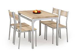 Столовый комплект  MALCOLM дуб сонома  ( стол+4 кресла) (Halmar)