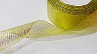 Лента парча 40 мм золото