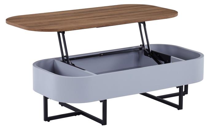 Журнальный стол - трансформер CT-15 орех + серый 120*60*(35-60)(Н) TM Vetro Mebel, фото 2