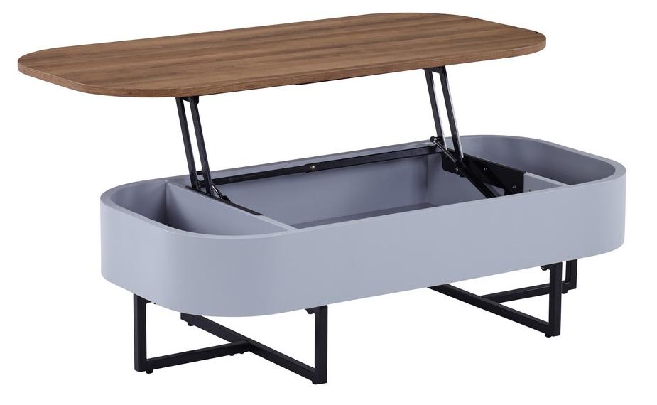 Журнальный стол - трансформер CT-15 орех + серый 120*60*(35-60)(Н) TM Vetro Mebel