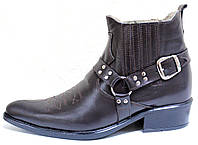 Ботинки зимние мужские кожаные, казаки от производителя ЛЕ101-1