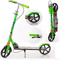 Складной самокат для детей и взрослых с ручным тормозом разные цвета