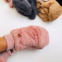Разные цвета Меховые Женские зимние теплые варежки