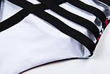 Спортивний костюм жіночий для фітнесу Квіти. Комплект лосини і топ для йоги, спорту, тренувань, розмір S, фото 9