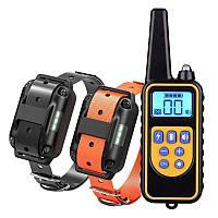 Электроошейник для собак дрессировочный Pet DTC-800 с 2-мя ошейниками для 2-х собак