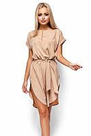 S, M, L, XL / Вишукане бежеве повсякденне плаття