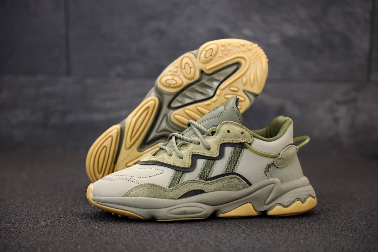 Мужские кроссовки Adidas Ozweego зеленого цвета