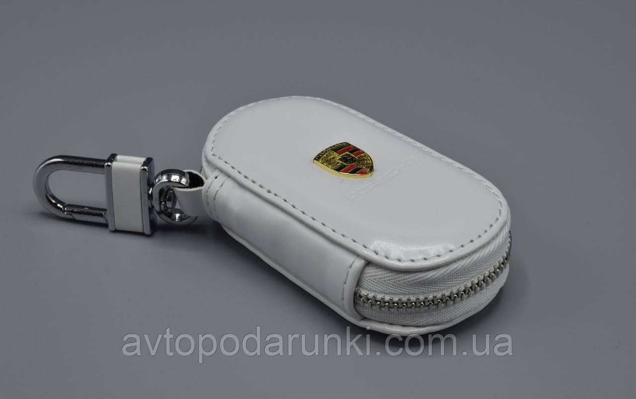 Ключница Carss с логотипом PORSCHE 06016 белая