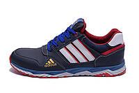 Мужские кожаные кроссовки Adidas Tech Flex Blue (реплика)