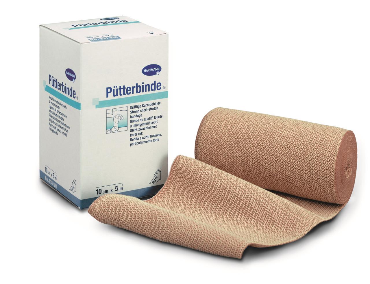 Putterbinde / Пюттербинт - Среднерастяжимый эластичный компрессионный бинт из чистого хлопка, 12см х 5м