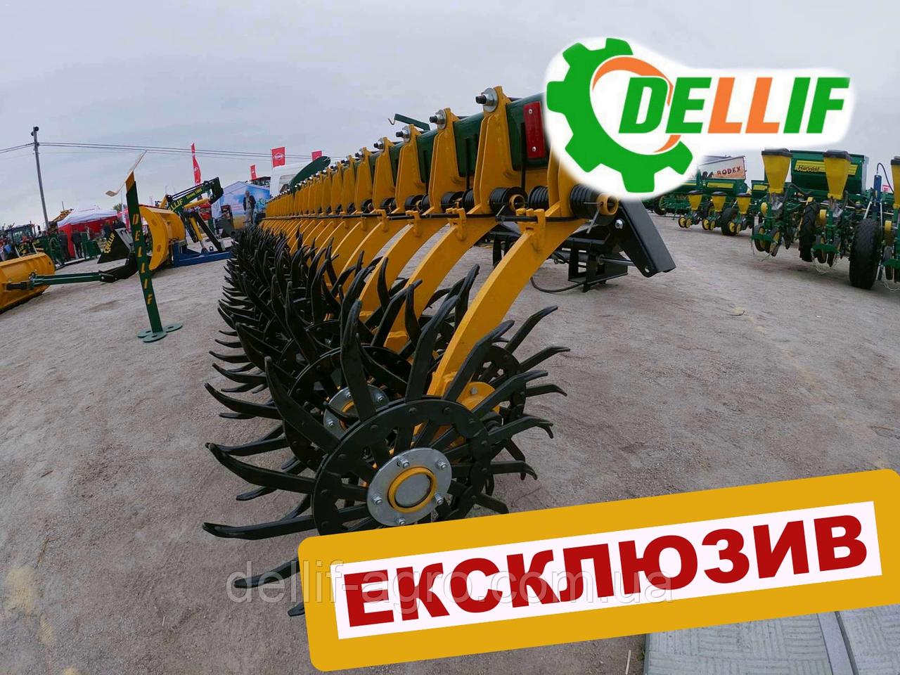 Борона ротационная мотыга Dellif Белла 3 м 15 рабочих органов Инновация