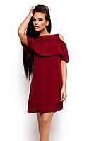 S, M, L / Молодіжне повсякденне марсалове плаття