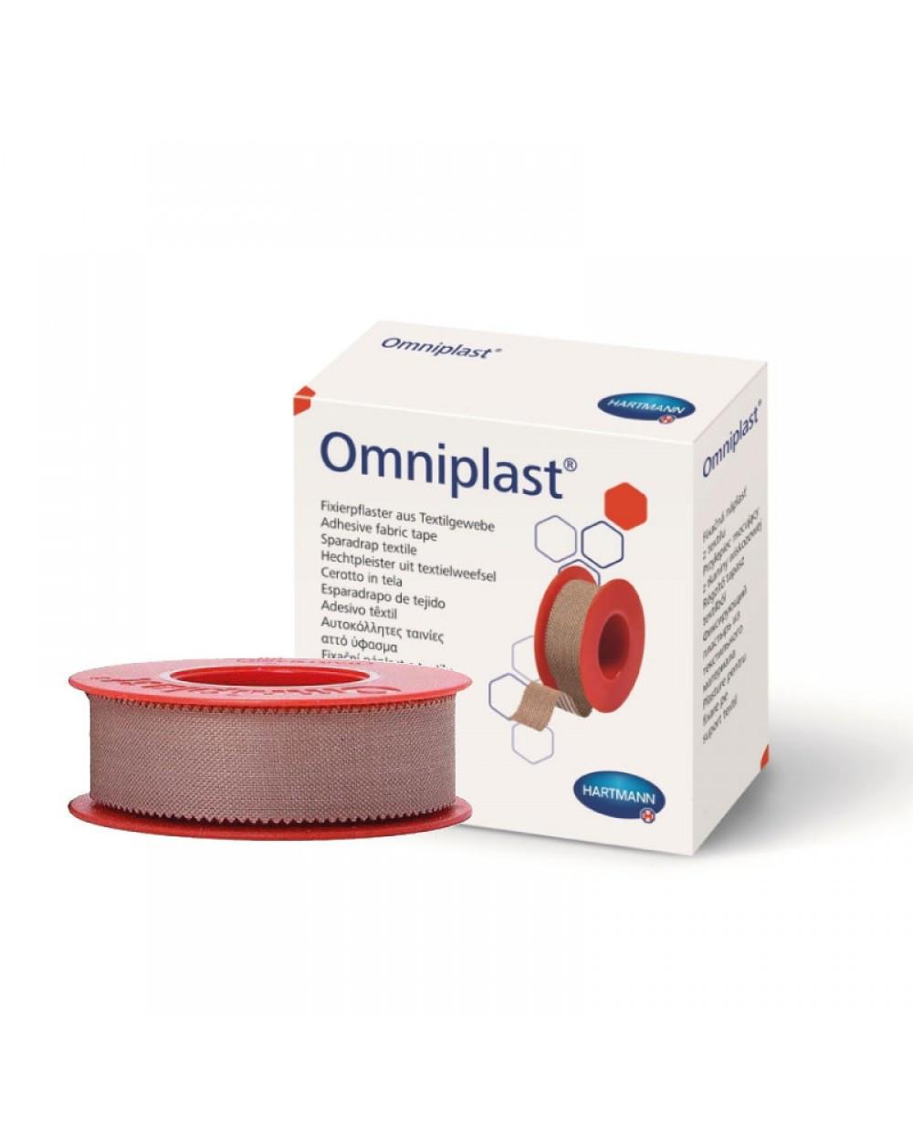 Omniplast / Омнипласт - фиксирующий пластырь из текстильной ткани 5 см х 5 м