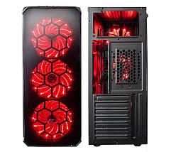 Корпус компьютерный Frime FUSION RED LED, фото 3
