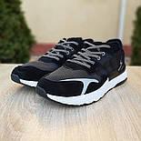 Мужские кроссовки Adidas Nite Jogger чёрные на белой сетка. Живое фото. Реплика, фото 4
