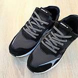 Мужские кроссовки Adidas Nite Jogger чёрные на белой сетка. Живое фото. Реплика, фото 6