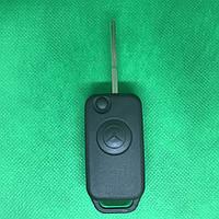 Выкидной автоключ MERCEDES W202, W210, C-class (Мерседес) корпус 1 - кнопка, лезвие HU64