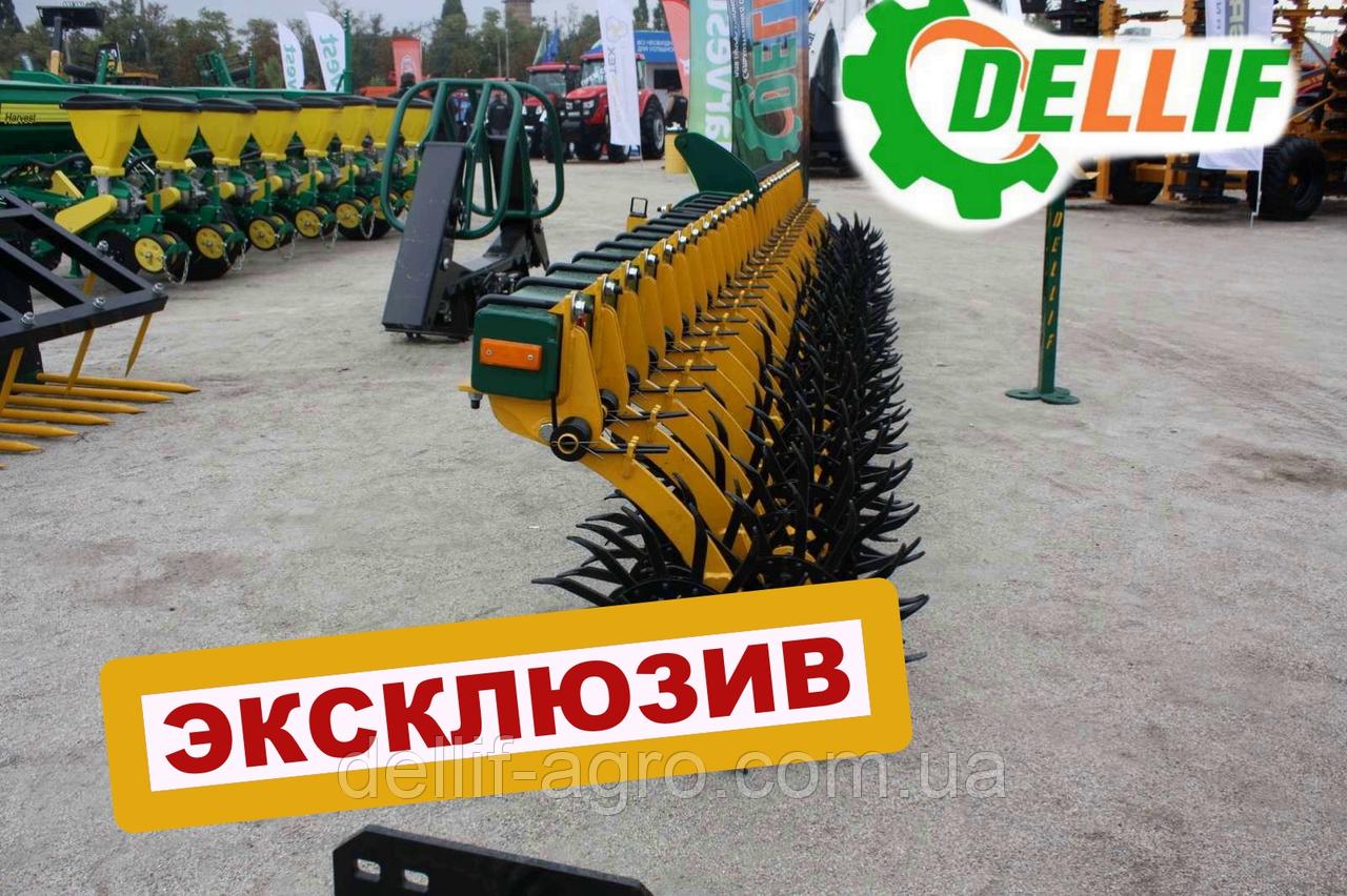 Борона ротационная ( мотыга) Dellif Белла 6 м  29 рабочих органовИННОВАЦИЯ