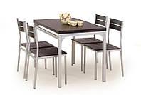 Столовый комплект MALCOLM ( стол+4 кресла) (Halmar)